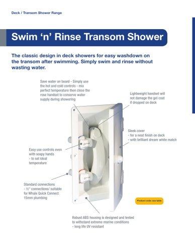 Swim 'n' Rinse Deck / Transom Shower