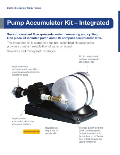Whale Accumulator Pump and Tank Kit