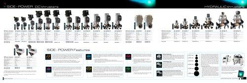 Side-Power Product range folder 2009