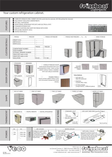 frigoboat superyacht spec sheet