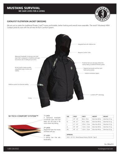 catalyst flotation jacket (Mj5244)