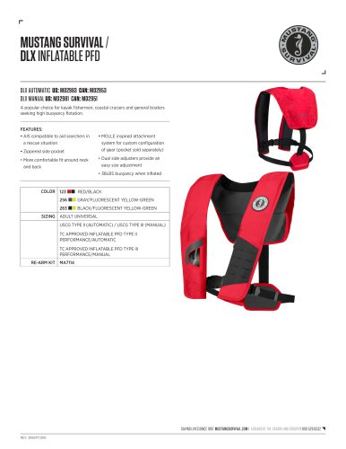 DLX INFLATABLE PFD