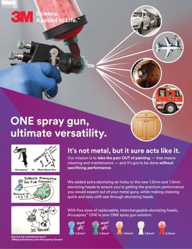 3M™ Accuspray™ ONE Spray Gun System with PPS™