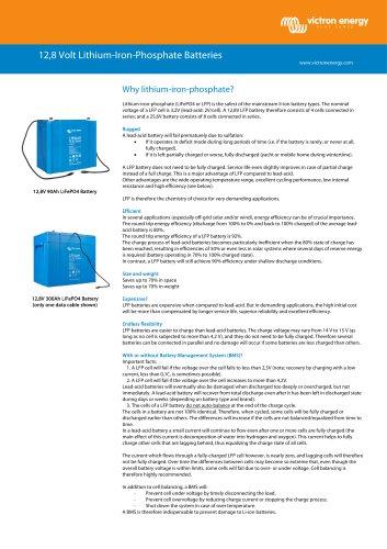 12,8 Volt Lithium-Iron-Phosphate Batteries