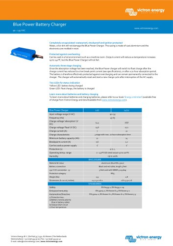 Blue Power IP65 Battery Charger - 90-135VAC