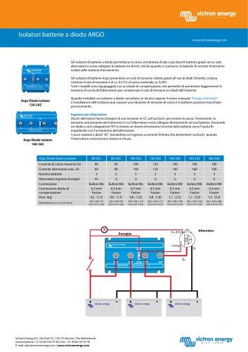 Isolatori batterie a diodo ARGO
