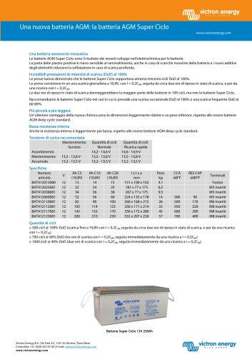 Una nuova batteria AGM: la batteria AGM Super Ciclo