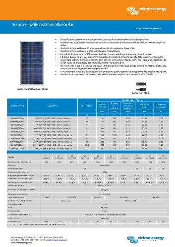 Pannelli policristallini BlueSolar