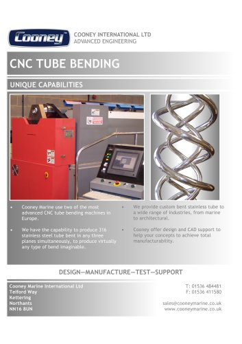 CNC TUBE BENDING