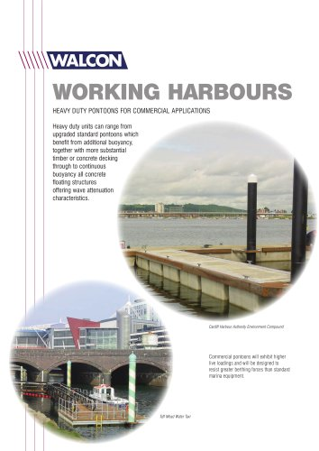 WORKING HARBOURS HEAVY DUTY PONTOONS FOR COMMERCIAL APPLICATIONS