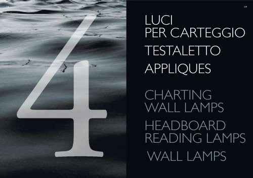 Charting wall lamps, headboards reading lamps, wall lamps 2009