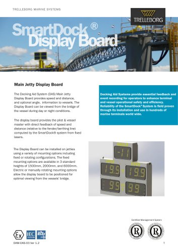 SmartDock ® Display Board