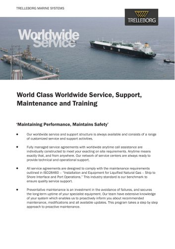 Trelleborg SeaTechnikTM World Wide Service