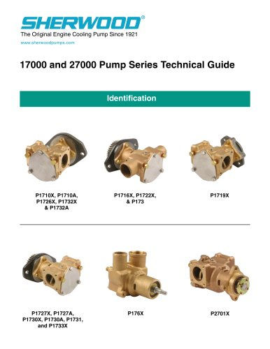 1700 & 27000 Pump series technical guide