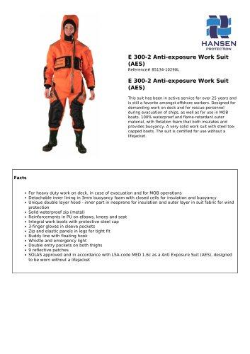 E 300-2 Anti-exposure Work Suit (AES)