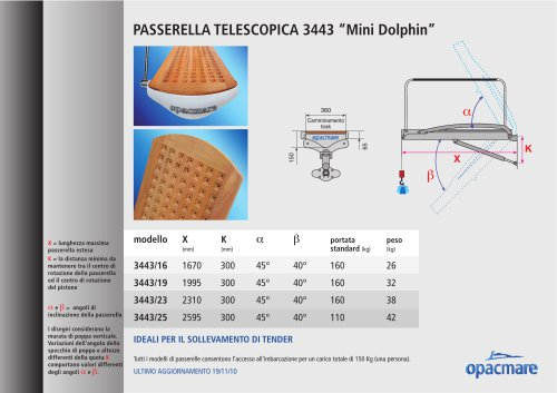 Passerella Mini Dolphin modello 3443