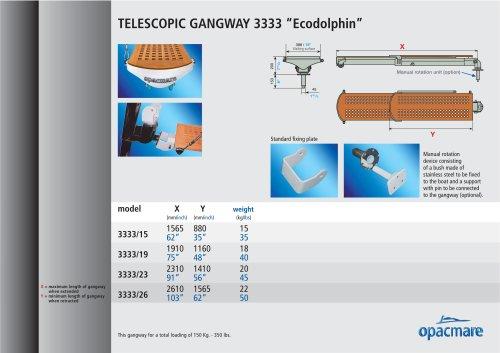 passerelle Ecodolphin  model 3333