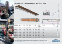 passerelle with rotating actuator model 8999 - 1