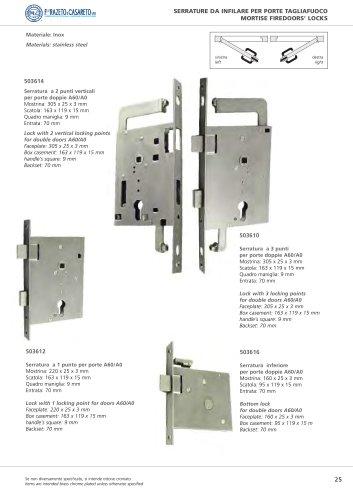 Bottom lock for double doors