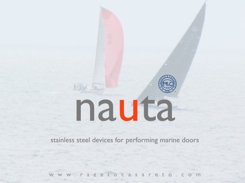 NAUTA stainless steel devices for performing marine doors