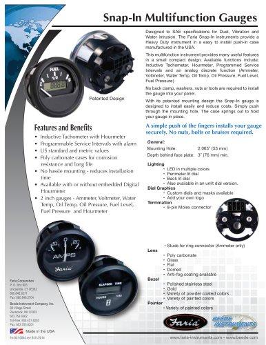 Snap-In gauges