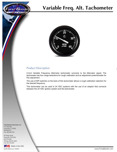 Variable Frequency Tachometer
