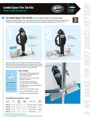Limited Space Trim Tab Kits