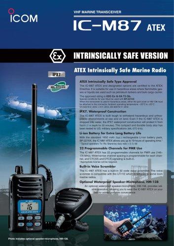 ATEX marine handheld IC-M87ATEX