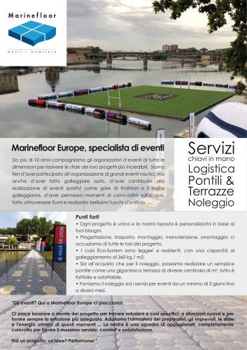 Marinefloor Europe, specialista di eventi