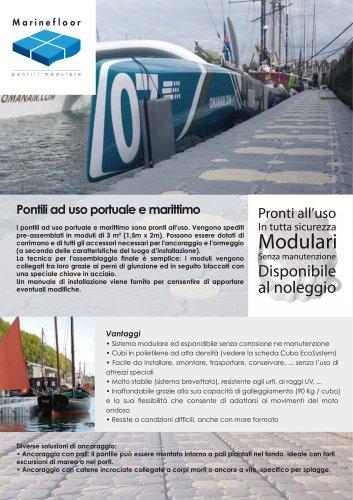 Pontili ad uso portuale e marittimo - MARINEFLOOR®