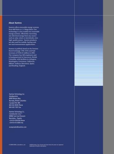 Xantrex Renewable Energy Catalogue