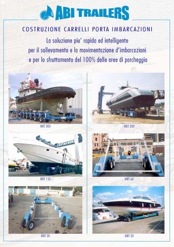 Costruzione carrelli porta imbarcazioni