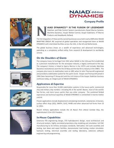 NAIAD DYNAMICS Company Profile