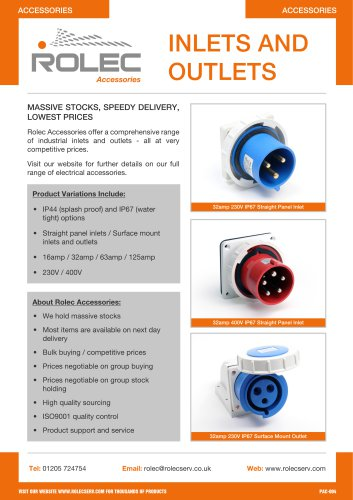 Inlets ans outlets