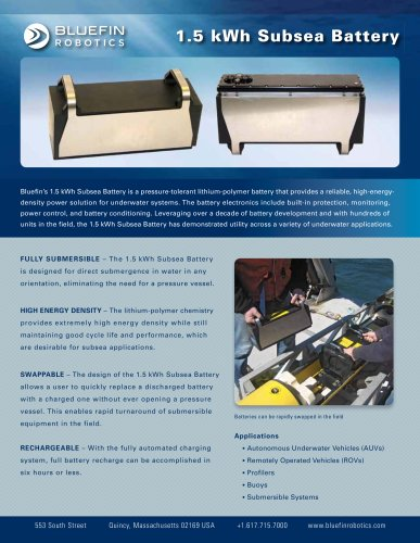 SUBSEA BATTERY