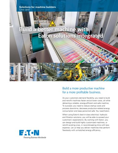 Eaton's solutions for machine builders linecard