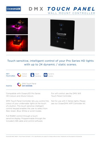 DMX Touch Panel Controller
