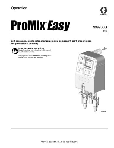 309908G - ProMix Easy, Operation, English