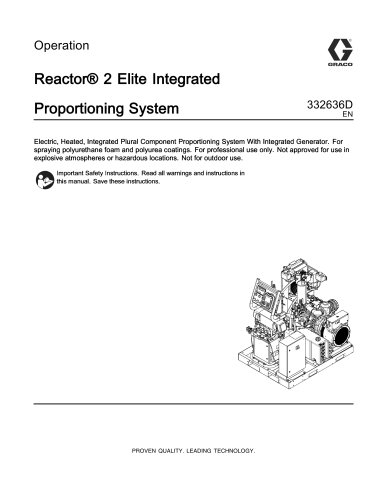 332636D - Reactor 2 Elite Integrated Proportioning System ...