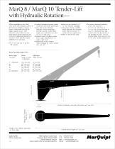 MarQ 8 / MarQ 10 Tender-Lift with Hydraulic Rotation