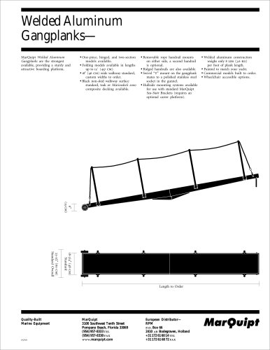 Welded Aluminum Gangplanks