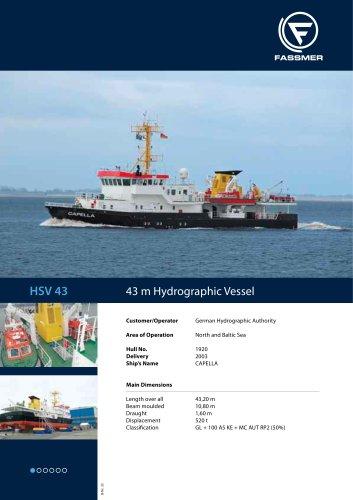 HSV 43  43 m Hydrographic Vessel