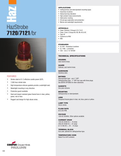 HazStrobe  7120/7121/br