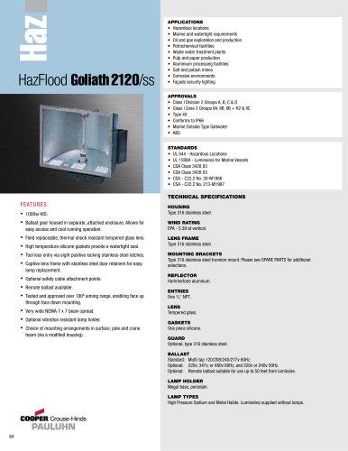Pauluhn HazFlood Goliath 2120/ss Floodlights