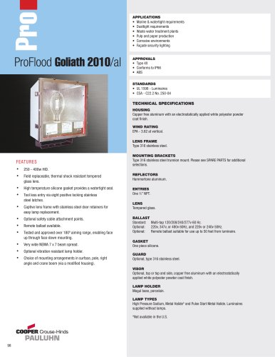 Pauluhn ProFlood Goliath 2010/al Floodlights