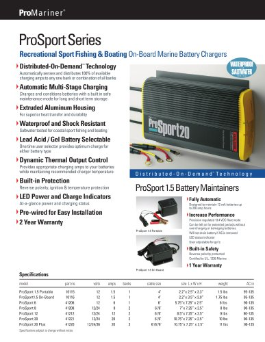 ProSport Series On-Board Marine Battery Chargers