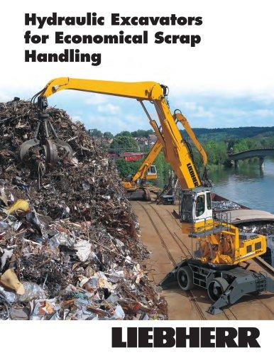 Hydraulic Excavators for Economical Scrap Handling