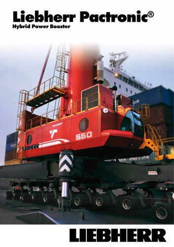 Liebherr Pactronic hybrid power booster for mobile harbour cranes