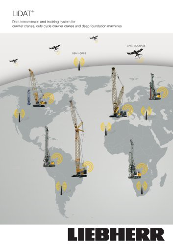 transmission and tracking system for crawler cranes and deep foundation machines