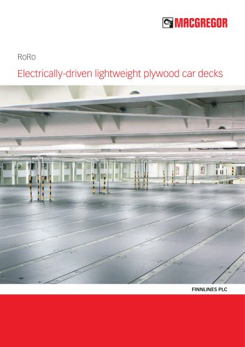 Electrically-driven lightweight plywood car decks